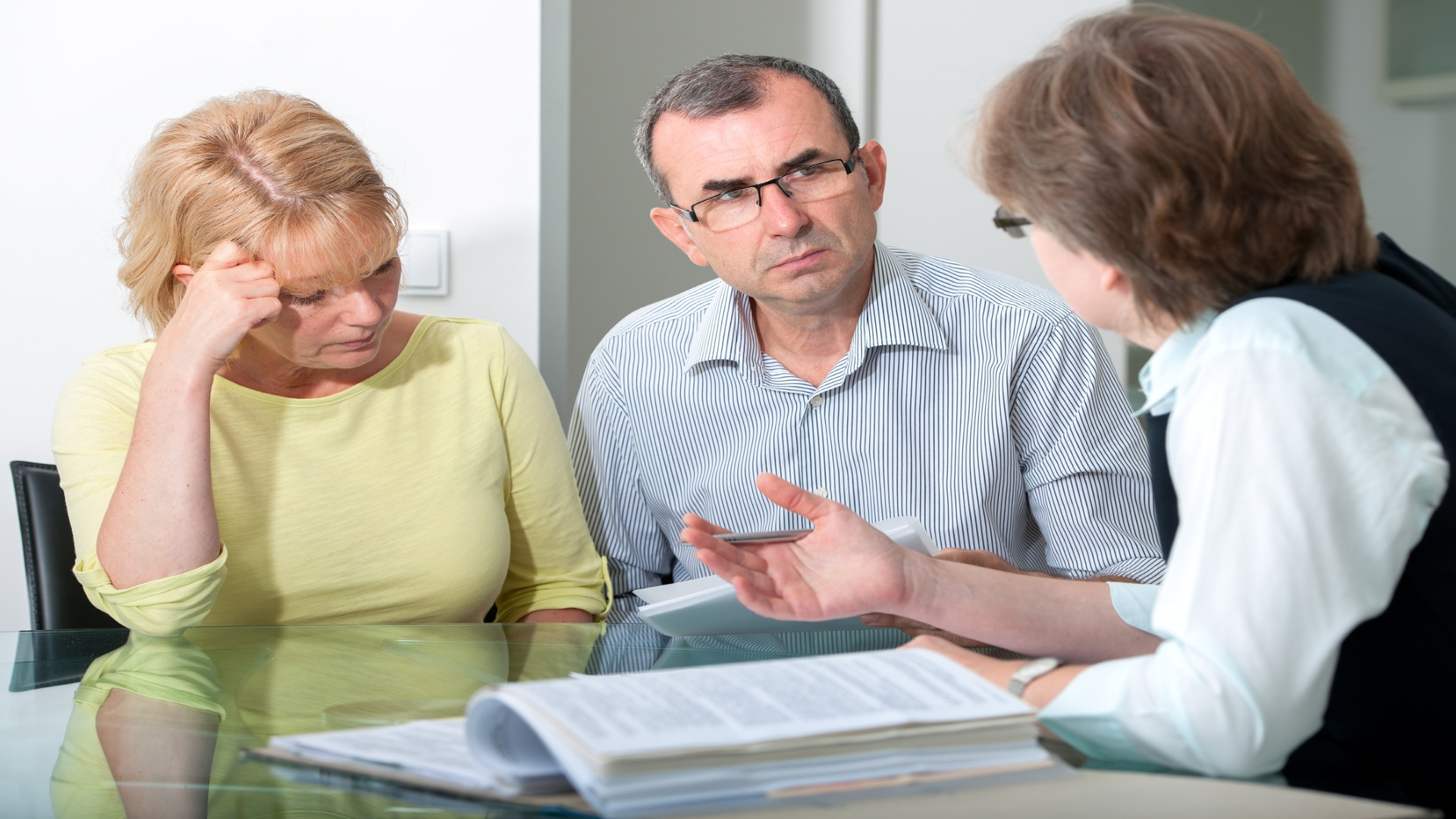 Mid adult couple  in professional marriage therapy